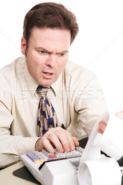 Vergi muhasebeci kötü haber üzgün kötü finansal Stok fotoğraf © lisafx