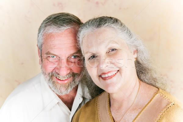 Paar sechziger Porträt schönen Frau Stock foto © lisafx