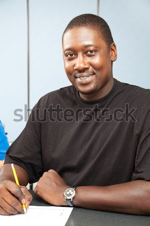 African-American Adult Student - Thumbs Up Stock photo © lisafx