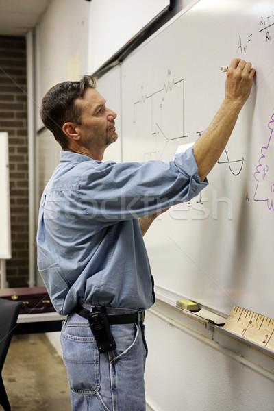 Felnőtt tanár függőleges jóképű felnőttoktatás ír Stock fotó © lisafx