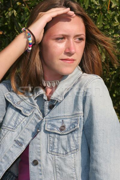 Beautiful Girl Shades Eyes Stock photo © lisafx