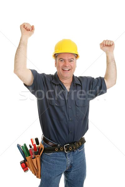 建設作業員 恍惚とした 腕 アップ 喜び ストックフォト © lisafx