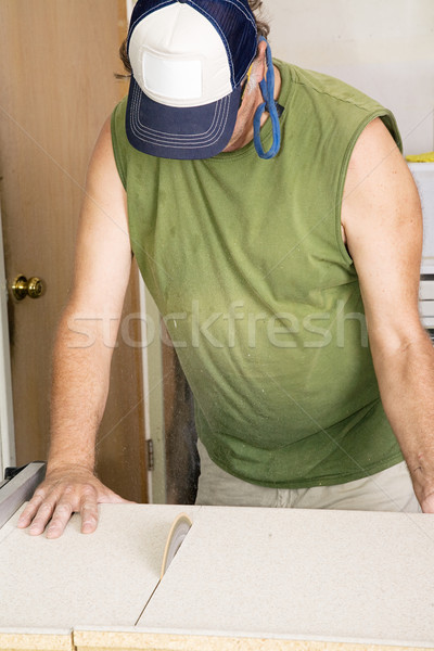 Cutting Laminate with Table Saw Stock photo © lisafx