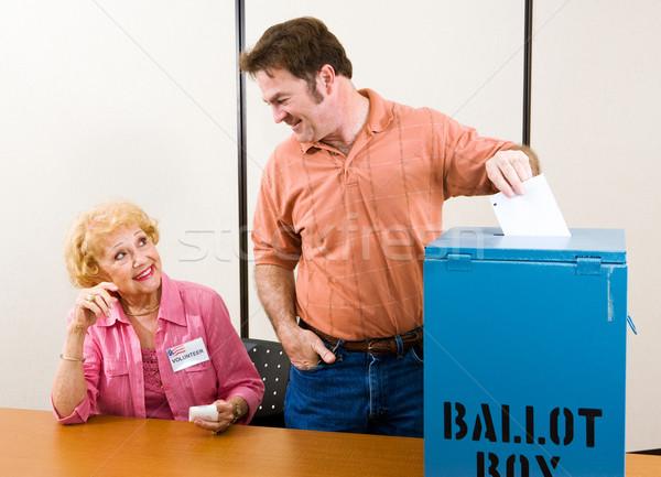 Eleição dia EUA masculino suburbano eleitor Foto stock © lisafx