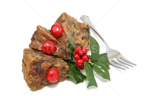 Fruitcake Slices with Fork Stock photo © lisafx