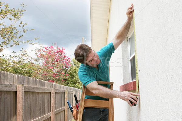 Measuring For Storm Shutters Stock photo © lisafx
