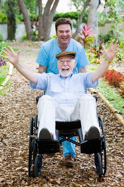 Disabled Senior - Fun Stock photo © lisafx