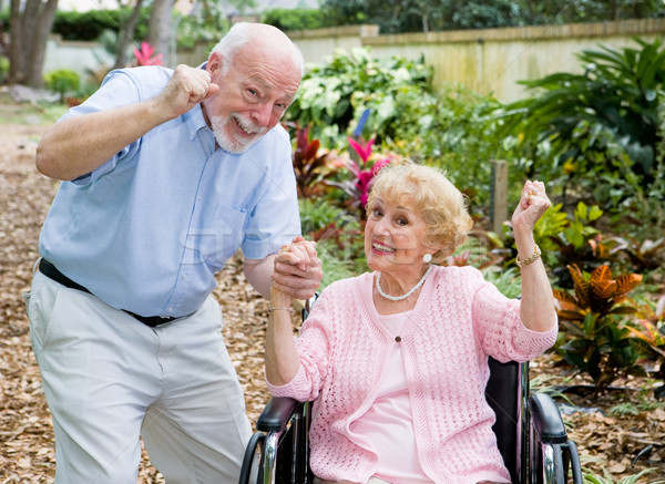 Seniors Conquering Adversity Stock photo © lisafx