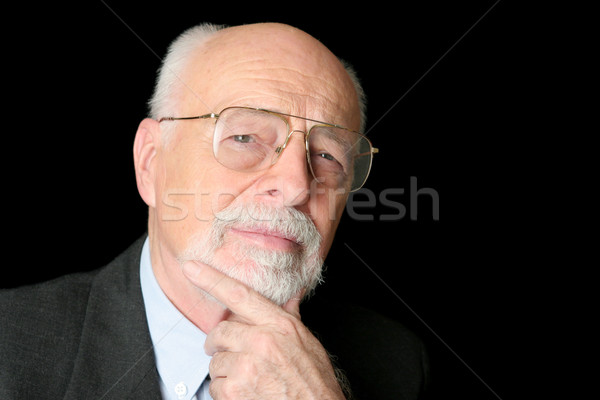 Stock Photo of a Skeptical Senior Man Stock photo © lisafx