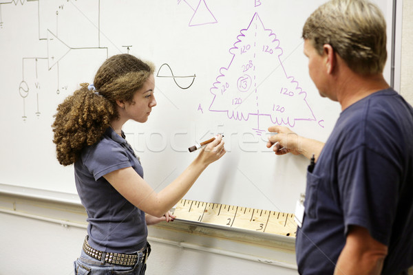 Student Working Equation Stock photo © lisafx