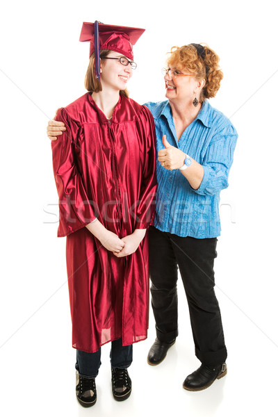 Mom Congratulates Daughter on Graduation Stock photo © lisafx