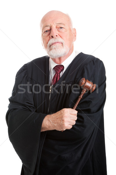 Stern Judge with Gavel Stock photo © lisafx