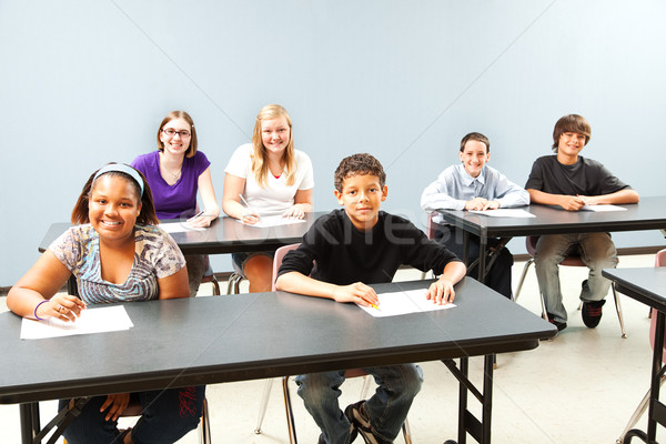 Diverse Classroom with Copyspace Stock photo © lisafx