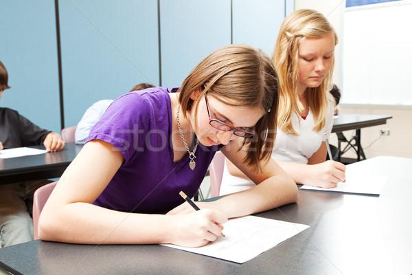 高校 アカデミック テスト 少女 子供 表 ストックフォト © lisafx