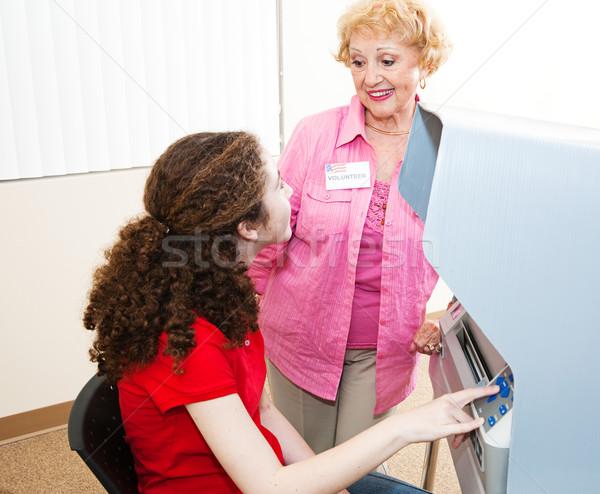 Aiutare primo tempo elettore elezioni Foto d'archivio © lisafx