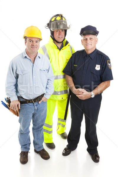 Stock photo: Group of Blue Collar Workers