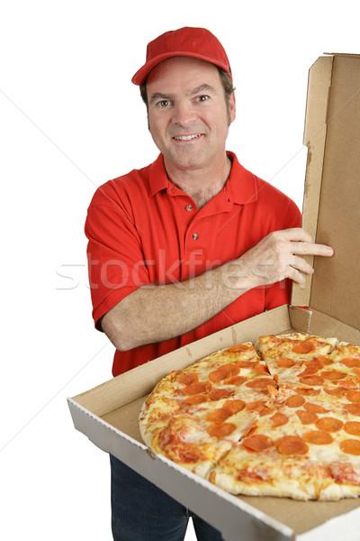 Fresh Pizza Delivered Stock photo © lisafx