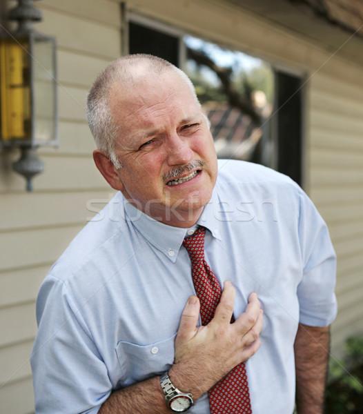 Mature Man - Heart Trouble Stock photo © lisafx