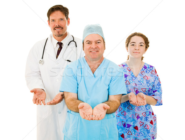 Medical Team - Open Handed Stock photo © lisafx