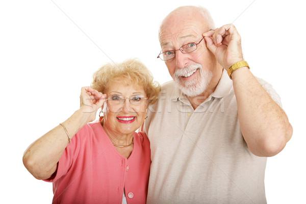 Optische Paar Gläser anziehend tragen Stock foto © lisafx