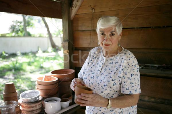 Senior Gardener Stock photo © lisafx