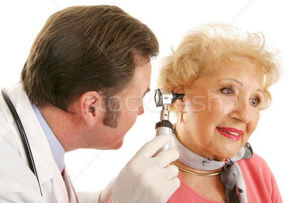 Senior Lady Gets Checkup Stock photo © lisafx