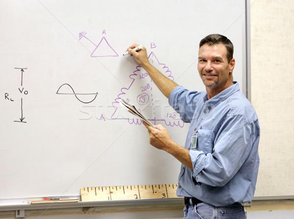 Insegnante bordo bello disegno matematico diagramma Foto d'archivio © lisafx