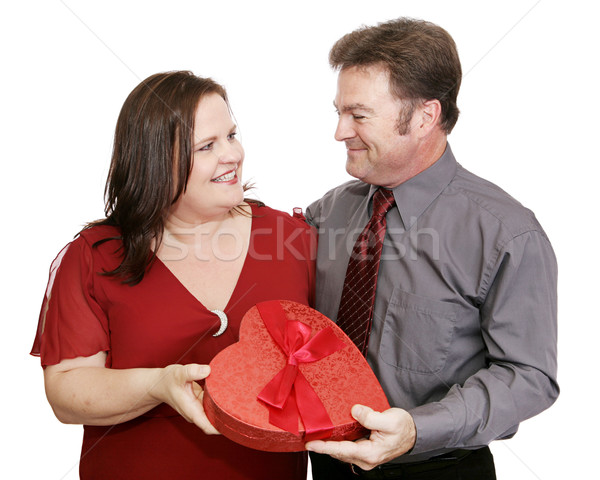 Valentine Candy Couple Stock photo © lisafx