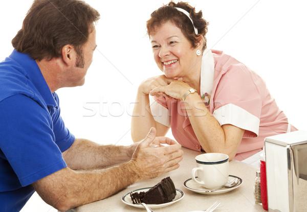 Waitress Chats with Customer Stock photo © lisafx