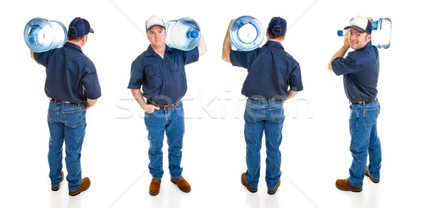 Water Delivery Man - Four Views Stock photo © lisafx