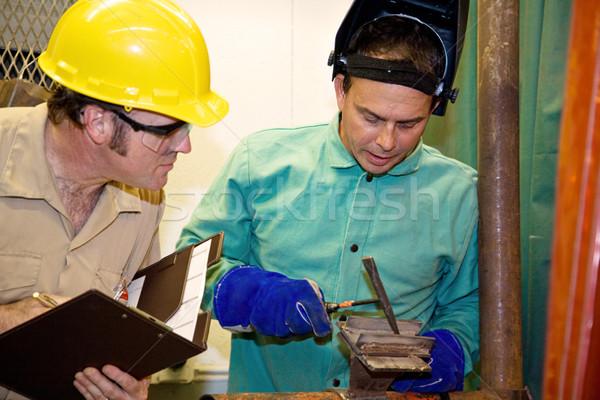 Soldador supervisor metal auditor trabalhar Foto stock © lisafx
