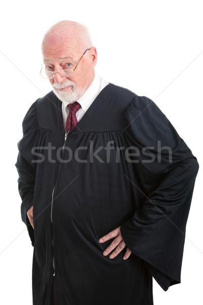 Grave giudice competente isolato bianco uomo Foto d'archivio © lisafx