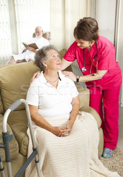 Senior Care in Nursing Home Stock photo © lisafx