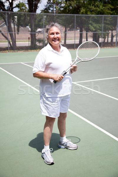 Active Senior Woman - Tennis Stock photo © lisafx