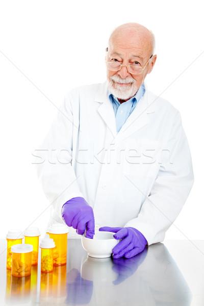 Pharmacist Filling Prescriptions Stock photo © lisafx