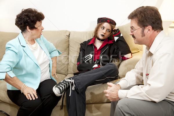 Madre adolescente hija familia terapia junto Foto stock © lisafx