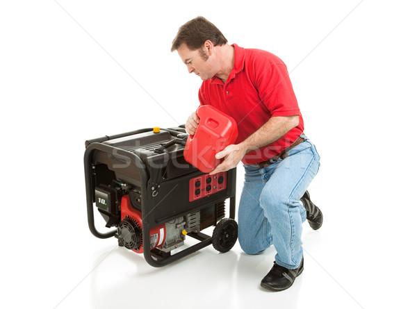ストックフォト: 充填 · ジェネレータ · 男 · ガソリン · 10