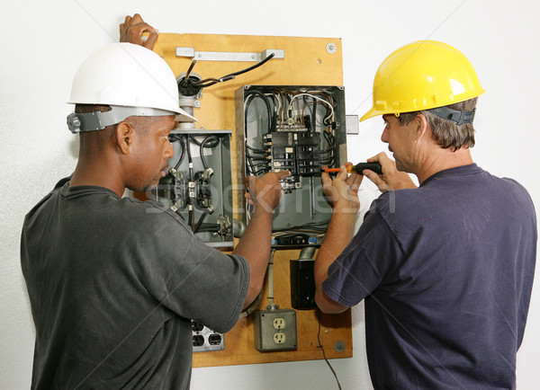 Electricians Repair Panel Stock photo © lisafx