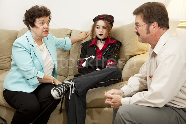 Family Counseling - She Drives Me Crazy Stock photo © lisafx