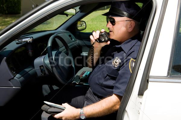 полиции полицейский автомобилей дороги улице говорить Сток-фото © lisafx