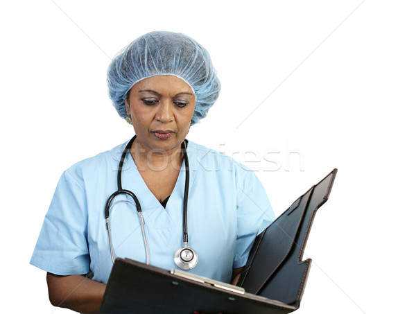 Surgical Nurse Reviews Chart Stock photo © lisafx