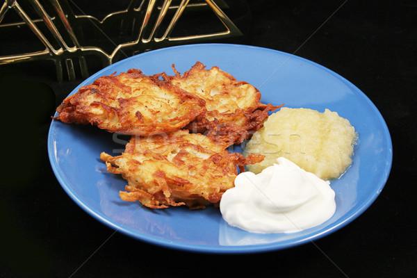 Potato Pancakes - Latkes For Hanukkah Stock photo © lisafx