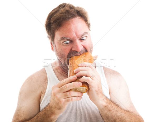 Scruffy Man - Hungry Stock photo © lisafx