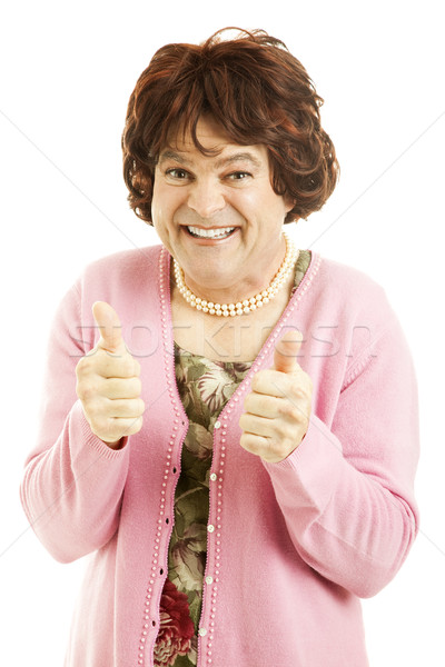 Cross Dresser - Two Thumbs Up Stock photo © lisafx