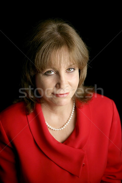Businesswoman in Red - Uncertain Future Stock photo © lisafx