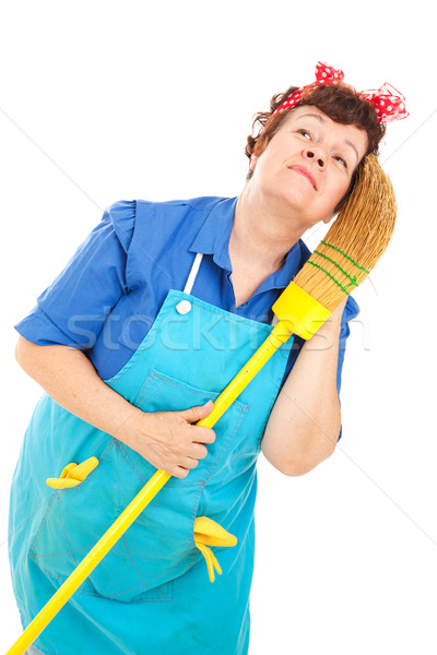 Cleaning Lady - Daydreaming Stock photo © lisafx