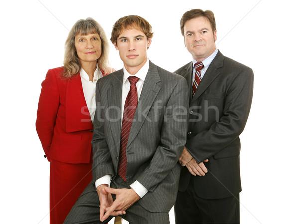 Competente equipo de negocios atractivo diverso aislado blanco Foto stock © lisafx
