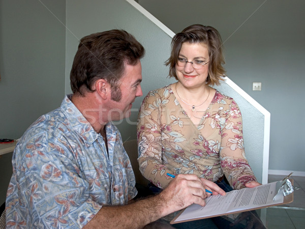 Filling Out Forms Stock photo © lisafx