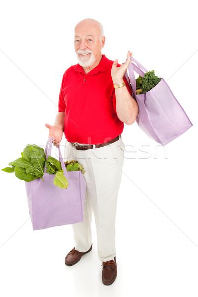 Senior Man Goes Green Stock photo © lisafx