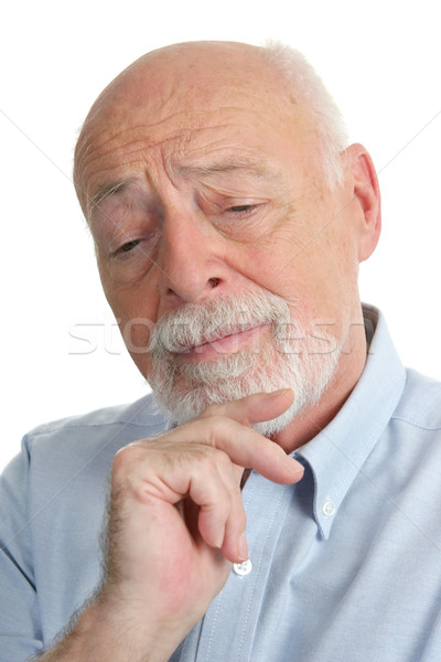 старший человека интеллектуальный мышления проблема бизнесмен Сток-фото © lisafx